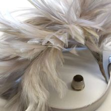 Pale Grey Stripped Hackle Feather Mount